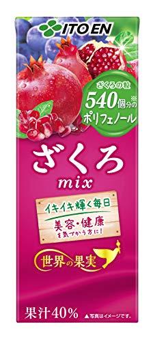 世界の果実 ざくろmix 200ml×24本 紙パック