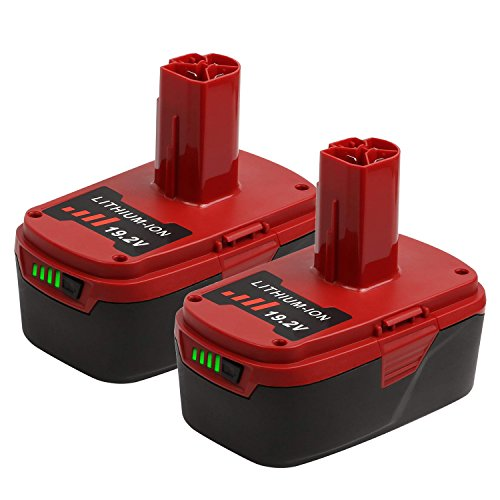 19.2V 6.0Ah C3 Lithium Replacement Battery for Craftsman DieHard XCP 130279005, 11375, 1323903, 315.113753,130211004, 1302790-2 Pack