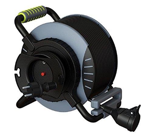 Luceco OATRE3016RRFL3IP-PX kabelhaspel voor buiten, antivries, 3000 W, 250 V, grijs/zwart