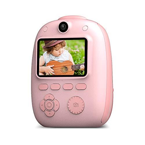 Mini-Digital-Kind-Kamera, Sofortbild-Kamera, Eingebaute Lithium-Batterie/Dual-Kamera-Objektiv, 26MP HD 1920 * 1080P-Auflösung,Rosa