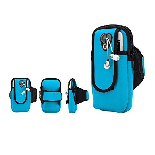 Arm Tasche Outdoor-Sport-Arm-Pack - Handy-Armband, Multifunktions-, Fitness-Tasche, Mit Kopfhöreranschluss, Laufen, Joggen, Gehen, Wandern, Männer Und Frauen (Color : C)