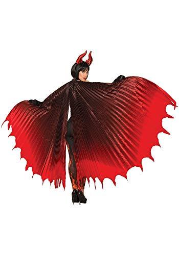 shoperama Dramatische Dämonen Flügel Rot/Schwarz Teufel Halloween Vampir Kostüm-Zubehör Cape Umhang