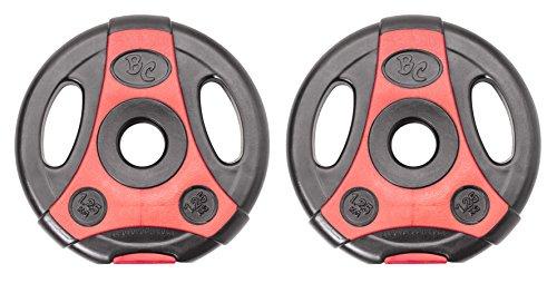 Bad Company K-Grip Hantelscheiben mit Griffen I Kunststoff ummantelte Gewichte 30/31 mm I 2 x 1,25 Kg