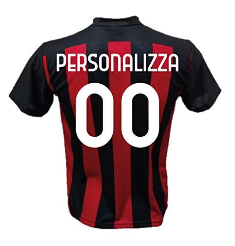 DND DI D'ANDOLFO CIRO Maglia Calcio Milan Personalizzabile Replica Autorizzata 2020-2021 Taglie da Bambino e Adulto. Personalizza con Il Tuo Nome o Il Nome del Tuo Giocatore Preferito (M (Adulto))