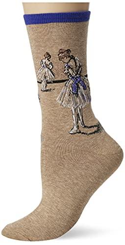 Hot Sox Degas' Study of a Dancer Blue Socken Crew