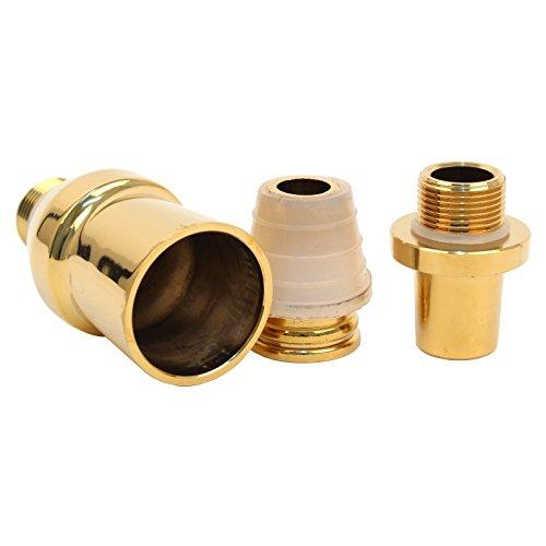Caesar Shisha Adapter-Set für Molassefängersäule | für Wasserpfeifen mit 18-Schliff | Shining Gold