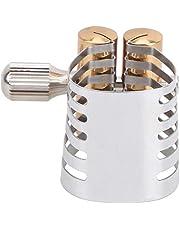 Abrazadera de Clip de ligadura de Metal para saxofón, pieza de accesorio de boquilla de saxofón con cabeza de flauta de un solo tornillo, piezas de accesorios para jugadores de saxofón(Alto)