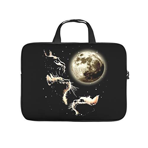 Lightweight Water-Repellent Three Cat Moon Laptop Sleeve Case Protective Bag - for Work/Business/College/Travel White 10 Zoll