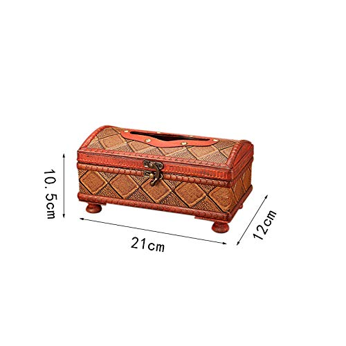 Gespout Caja de Pañuelos Caja de Papel Artesanía Retro de Madera Caja de...