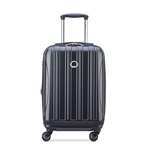 DELSEY Paris Helium Aero Hardside Expandable Luggage with Spinner Wheels, Matte Black, Carry-On 19 Inch