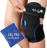 Ice Pack for Knee, Knee Support Brace with Gel Pad for Hot and Cold Therapy