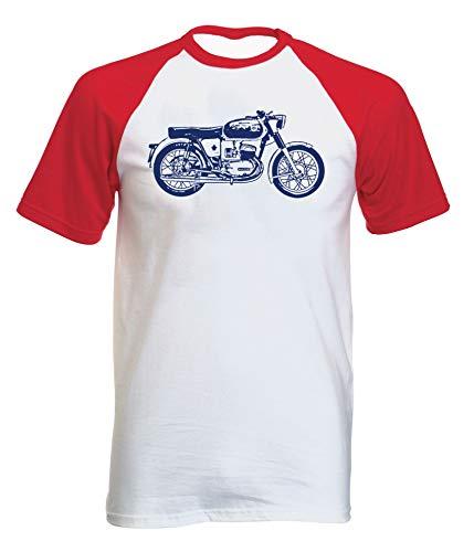 Teesandengines Bultaco Mercurio 155 con Manga Corta roja T-Shirt