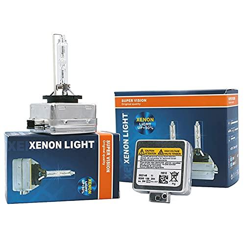 Luces led para Autos 2 PCS Bombilla HID D1S D1R D2S D2R D3S D3R D4S D4R D8S 4300K 6000K 8000K HID Lámpara de Faros Xenon para Todos los Faros del Coche Luces led para Coches