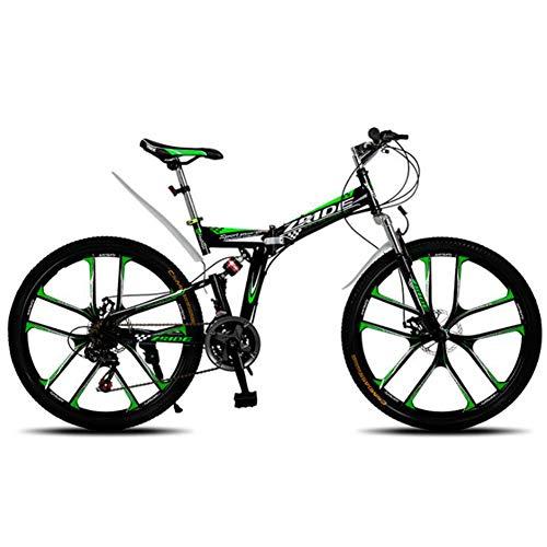 TX Bicicleta De Montaña Plegable De 26 Pulgadas 21 24 27 30 Velocidades Bicicleta Suspensión Trasera Doble Amortiguadores Freno De Disco De Neumático MTB,A,24gears