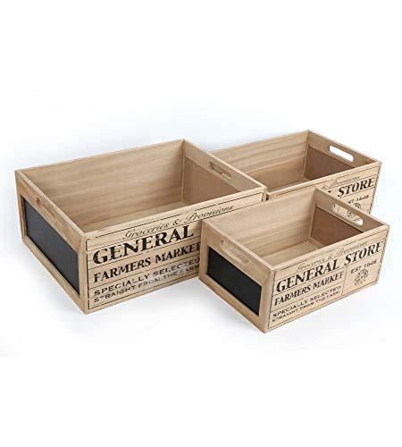 2 x Vintage General Store dise/ño soporte para huevos cajas