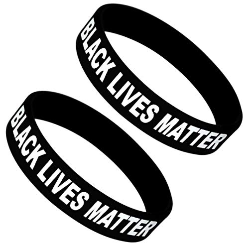 Black Lives Matter BLM Silicone Wristbands (2 pack)