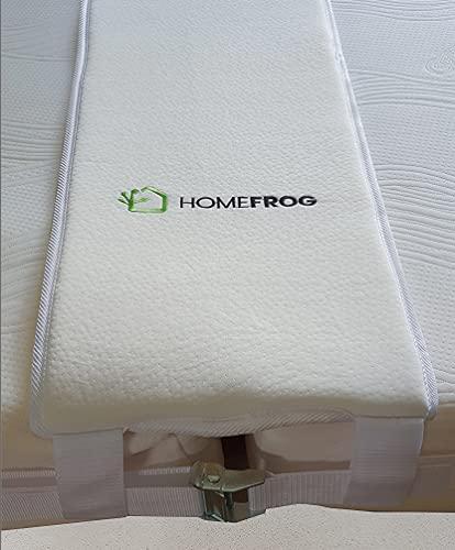 홈 개구리 베드 브리지 - 킹 매트리스 커넥터 컨버터 키트 - 추가 와이드 메모리 폼 베드 필러 - 킹 베드를 만들기 위한 반슬립 이중 루프 설계를 가진 조정 가능한 스트랩