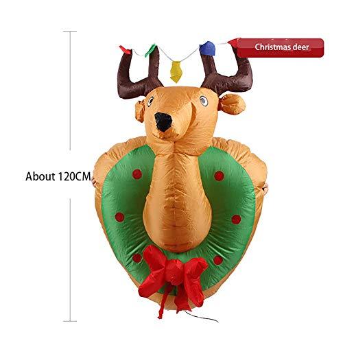 Homme de pain d'épice auto-gonflable léger de 4 pieds pour la décoration de cour d'agitation agitant, décoration de jardin de cour extérieure intérieure et décoration de faveur de fête de Noël cadeau