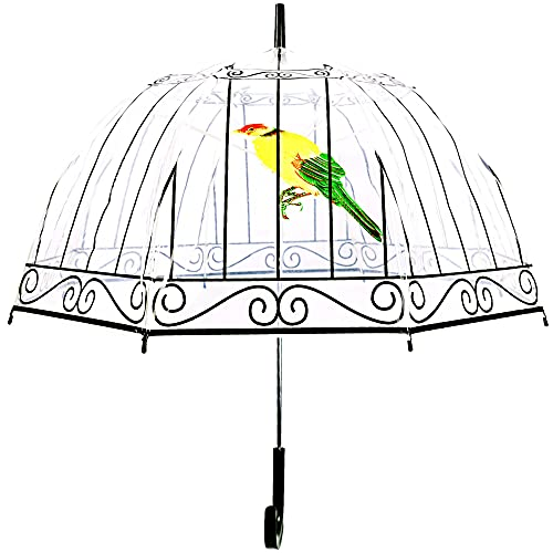 Kung Fu Smith Birdcage Transparent Clear Dome Bubble Umbrella for...