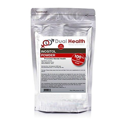 Pure Inositol Powder (500 Grams (1.1 lb)) Bulk Supplements