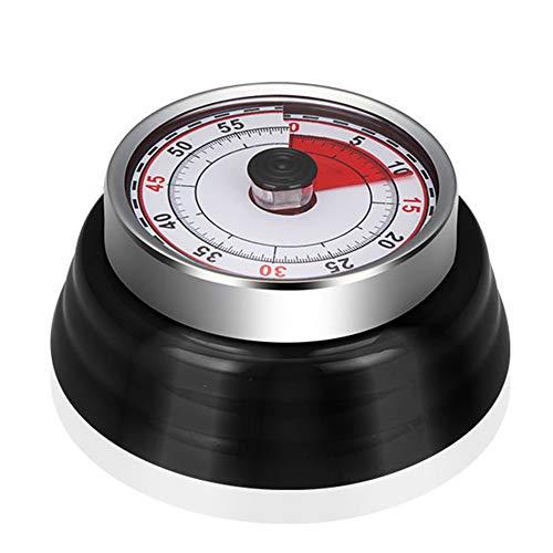Tenfel キッチンタイマー 最大セット時間60分 タイマー 勉強 料理 アナログ式 ダイヤルタイマー 電池不要 簡単操作 マグネット付き