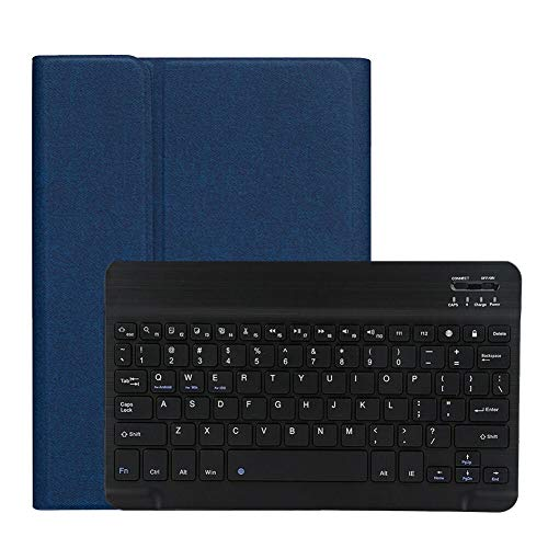 RZL PAD & TAB cases For iPad 10.2 2019 7 7th Gen Generation A2197 A2198 A2232, Keyboard Case With Pencil Holder Tablet Cover For iPad 10.2 2019 (Color : White)