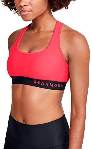 Under Armour Women's HeatGear Mid Impact Crossback Sports Bra