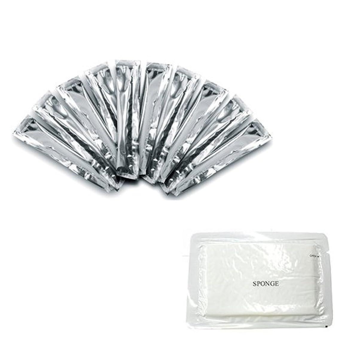 晩餐鮫パスポート12ml 携帯に便利な使いきりサイズのスティックローション 10本 + 圧縮スポンジセット