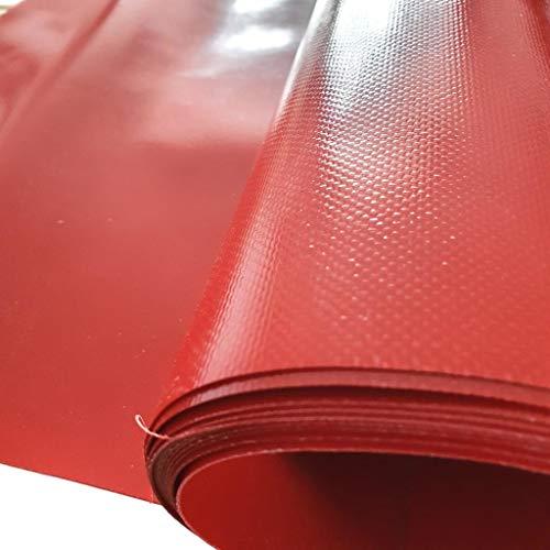 w-mtools LKW Plane Meterware PVC-Plane 680g/m² - 300cm/ 3m - Rollenware ohne Ösen, Schwarz, Silber, Weiß, Blau, Gelb, Rot - Gewebeplane Abdeckplane Schutzplane Industrie (Rot, RAL 3000)