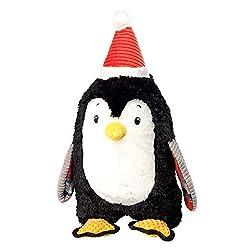 Multi-textured, high quality plush material Built-in squeaker Fun animal design Design: Penguin Size: 42cm (H) x 19cm (W) x 14cm (D)