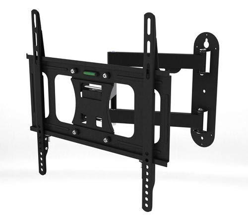 takestop Soporte para TV de tres articulaciones, color negro, MK-LT09S/M, inclinable, giratorio (32-70)