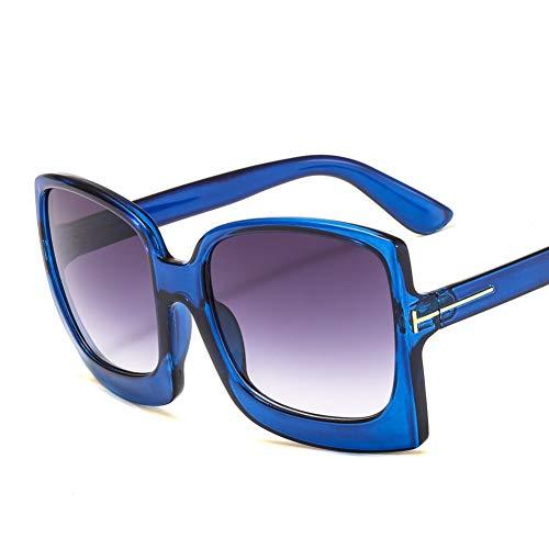 HUANGHUA Gafas De Sol Extragrandes para Mujer con Montura Cuadrada Grande