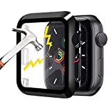 Waflyer Coque pour Apple Watch Series 3/2/1 avec verre blindé 42 mm, protection complète à 360°...