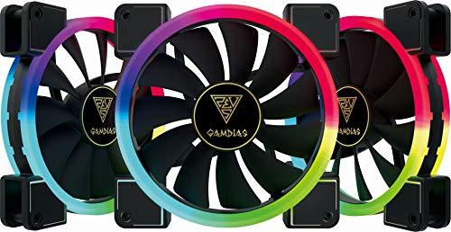 Gamdias Aeolus M1Case Fan Confezione con Telecomando1403R 3x RGB 140mm