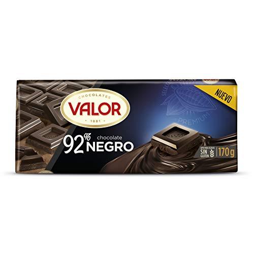 Valor - Tableta de chocolate negro 92% cacao, 170 g