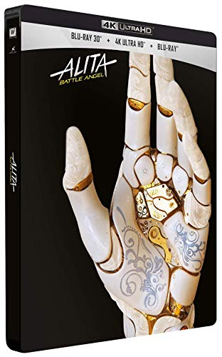 Alita: Battle Angel Steelbook [Blu-Ray]+[Blu-Ray 3D] [Region Free] (Deutsche Sprache. Deutsche Untertitel)