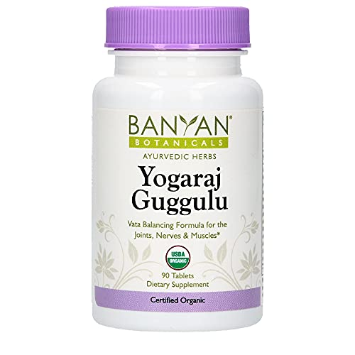 Banyan Botanicals Yogaraj Guggulu - USDA Organic - 90 Tablets - Ayurvedic Herbs for Pain in The Muscles, Nerves & Joints*
