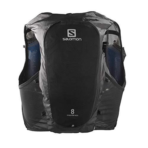 SALOMON ADV Hydra Vest 8 Chaleco de hidratación 8L, 2 Botellas SoftFlask 500 ml Incluidas, Unisex Adulto