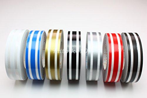 B2 3/4' Triple Pin Stripe Striping Tape Decals Stickers Vinyl Tape 18mm Car