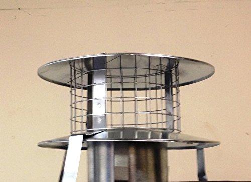 Rejilla para chimeneas 15,24 cm olla percha acero galvanizado