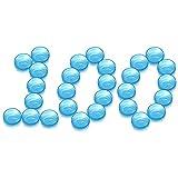 PUDSIRN 100 Uds 5G macetas de Muestra, recipientes cosméticos Redondos vacíos con Tapa, Recipiente de plástico, tarros para cremas, bálsamo Labial (Azul)