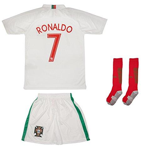 ATB Portugal 18/19 Kinder Trikot und Hose mit Socken - Ronaldo und namenloses Trikot (152, Ronaldo (Auswärts))