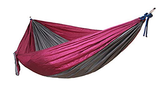 Beach Hammock -Hideaway Nylon Hammocks Outdoors Parachute Hammock-Two Person Hammock Camping,Backyard,Patio,Balcony (Multicolor 5,270140CM)