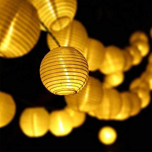 GKJRKGVF 30 LED Solar nachtlampje lantaarn snoer lamp bruiloft doek party fee LED Solar hof slinger lantaarn bal Deco