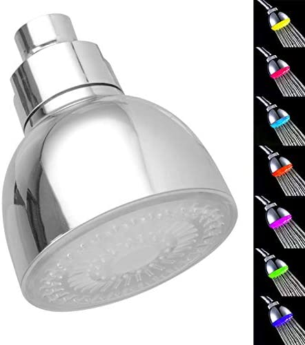LED Shower Head 7 Color Light Change Automatically Fixed Shower Head High Pressure Water Saving product image