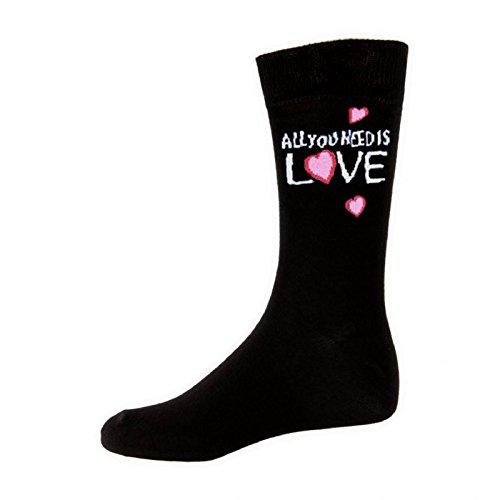 The Beatles Socken All You Need Is Love offiziell damen Nue Schwarz (UK Size