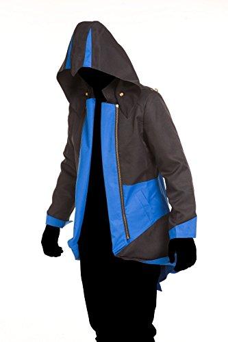 Cos2be Hoodie Jacket Coat (Black&Blue,Men-XS)