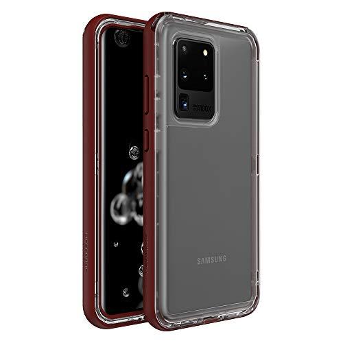 LifeProof Custodia Serie Next Resistente a Caduta, Polvere e Neve, per Samsung Galaxy S20 Ultra, Rosso Trasparente