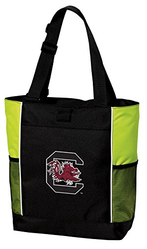 Broad Bay South Carolina Gamecocks Tote Bag Cool Lime University of South Carolina Totes Beach Pool Or Gym