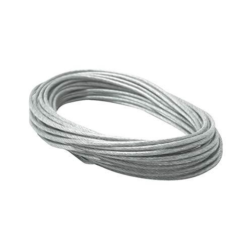 Paulmann 979069 Seil-Zubehör Spannseil isoliert Ergänzung für Seilsysstem 12 m 2,5 mm² Klar Zubehör Halogen Seilsysteme 12V